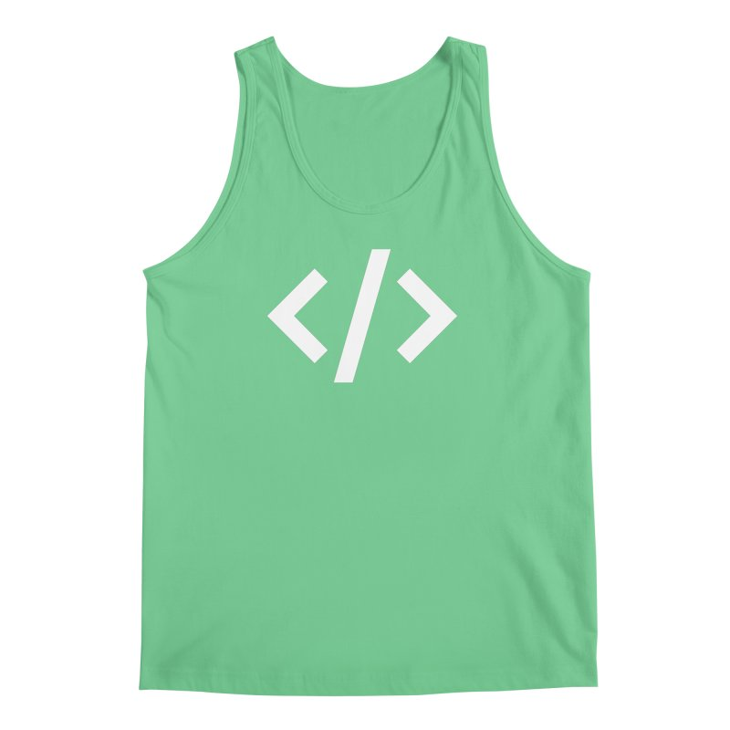 Code - White Men's Regular Tank by TechMasters Swag Shop