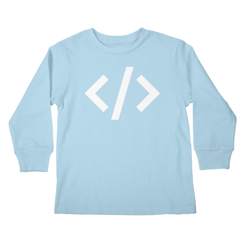Code - White Kids Longsleeve T-Shirt by TechMasters Swag Shop