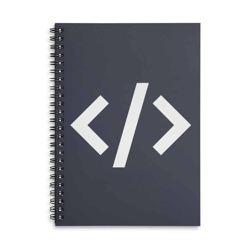 Code - White Accessories Notebook by TechMasters Swag Shop