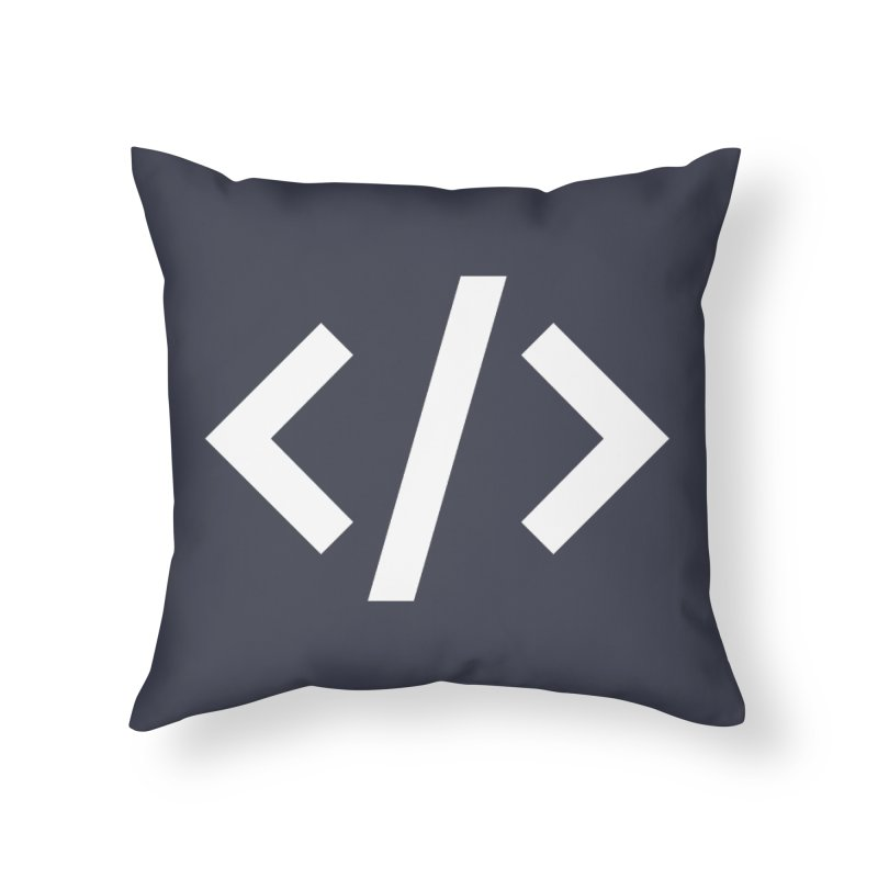 Code - White Home Throw Pillow by TechMasters Swag Shop