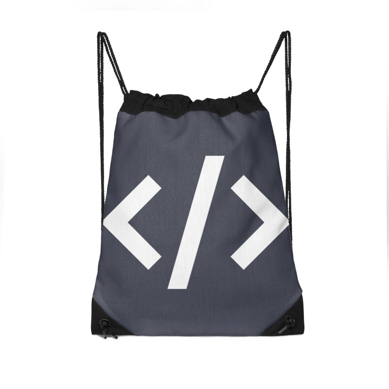 Code - White Accessories Drawstring Bag Bag by TechMasters Swag Shop