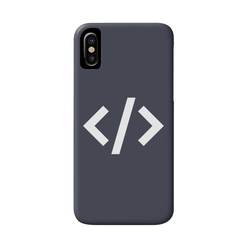 Code - White Accessories Phone Case by TechMasters Swag Shop