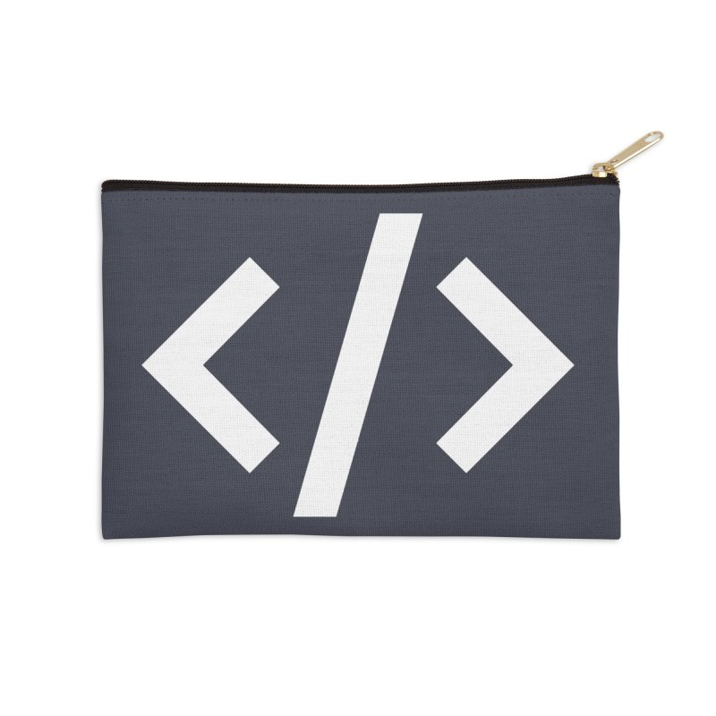 Code - White Accessories Zip Pouch by TechMasters Swag Shop