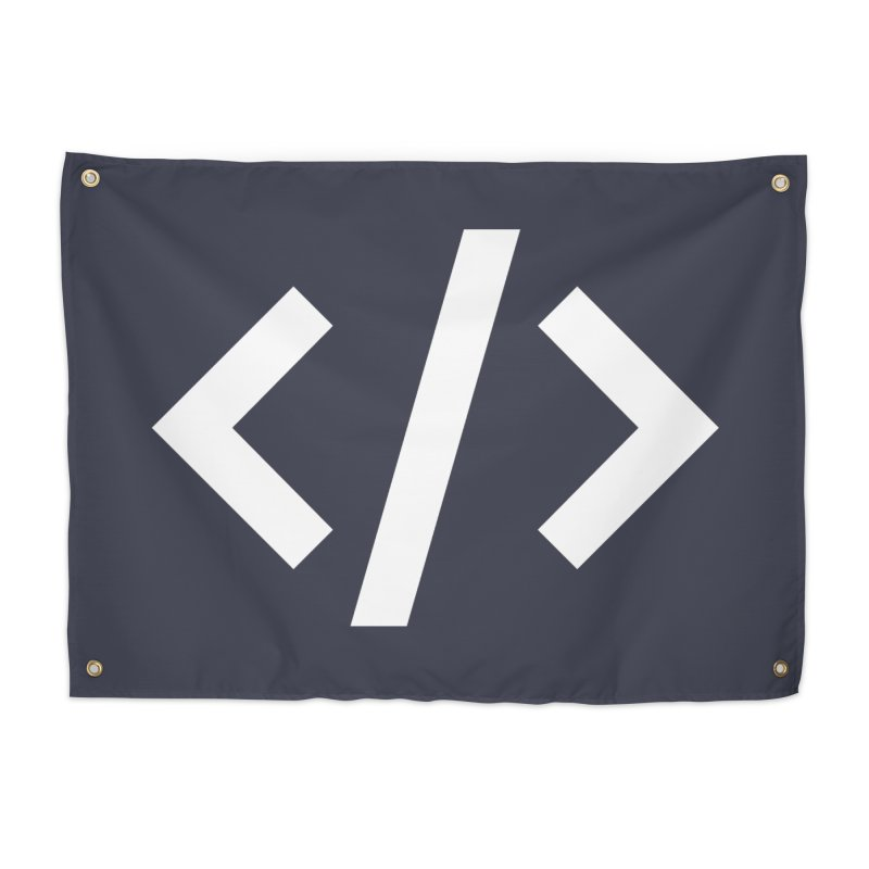 Code - White Home Tapestry by TechMasters Swag Shop