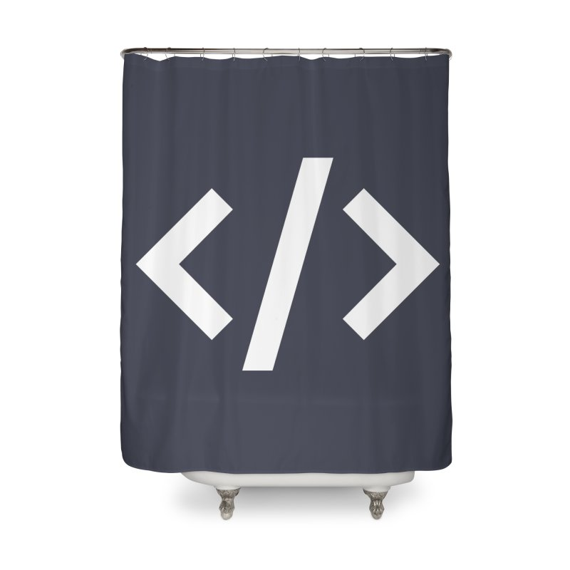 Code - White Home Shower Curtain by TechMasters Swag Shop