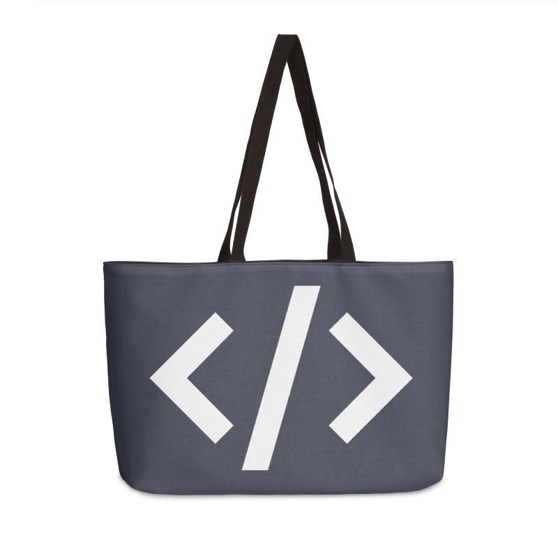 Code - White Accessories Weekender Bag Bag by TechMasters Swag Shop