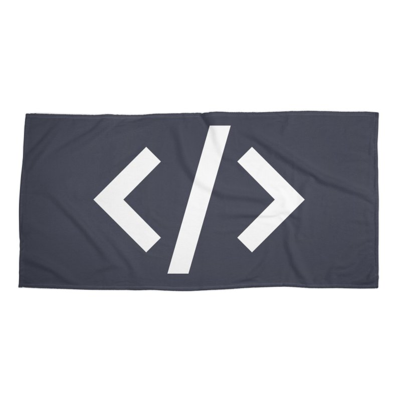Code - White Accessories Beach Towel by TechMasters Swag Shop
