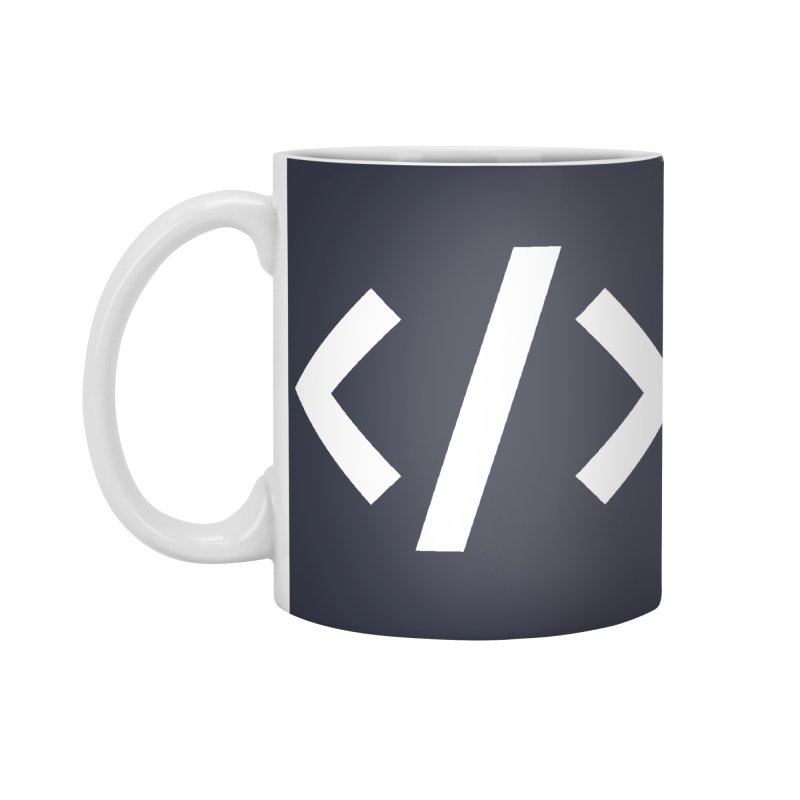 Code - White Accessories Standard Mug by TechMasters Swag Shop