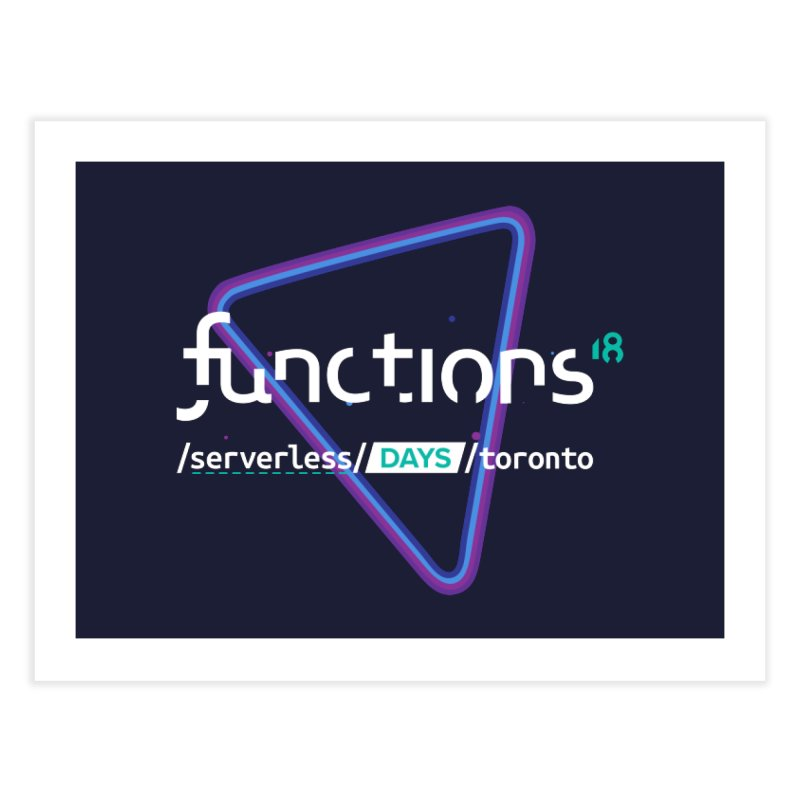 Functions 2018 Home Fine Art Print by TechMasters Swag Shop