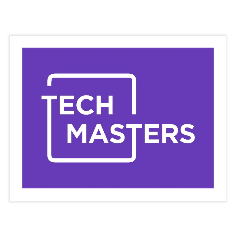 Tech Masters Logo Home Fine Art Print by TechMasters Swag Shop