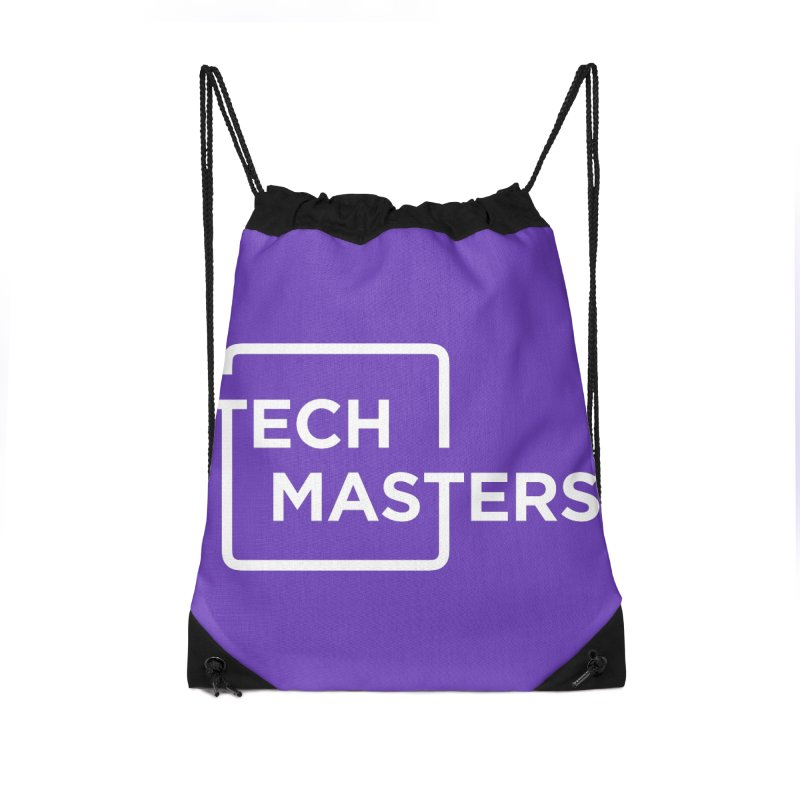 Tech Masters Logo Accessories Drawstring Bag Bag by TechMasters Swag Shop