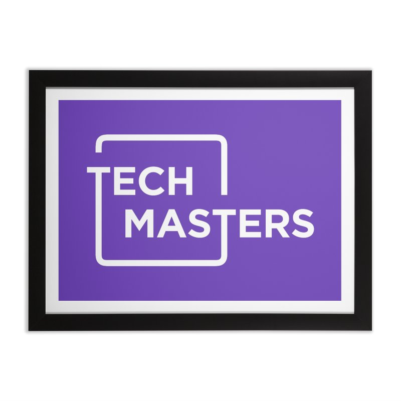 Tech Masters Logo Home Framed Fine Art Print by TechMasters Swag Shop
