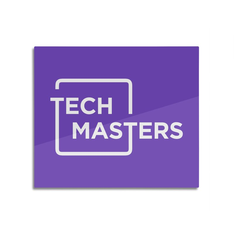 Tech Masters Logo Home Mounted Aluminum Print by TechMasters Swag Shop