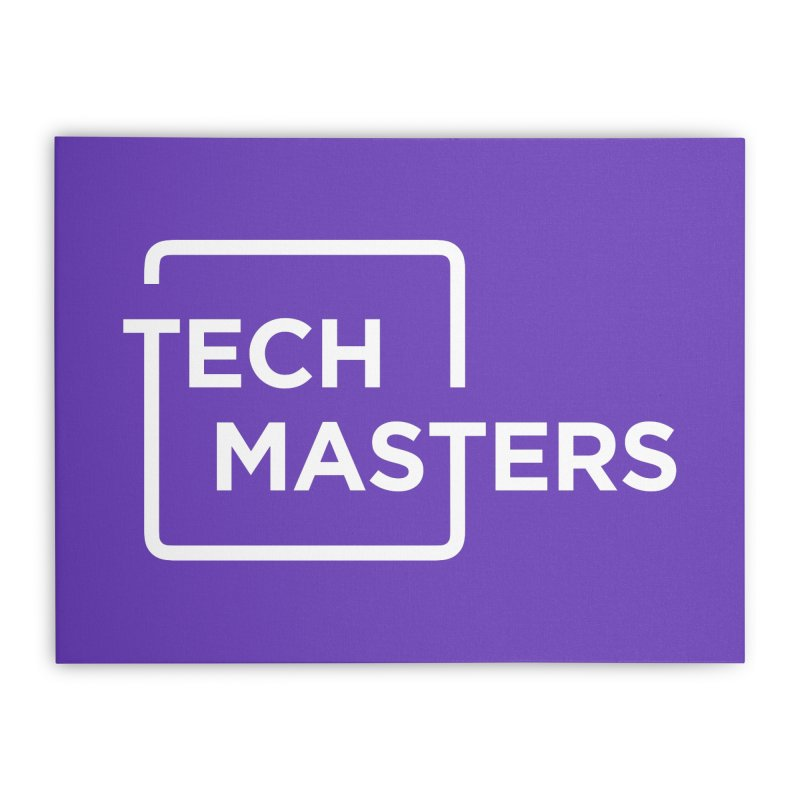 Tech Masters Logo Home Stretched Canvas by TechMasters Swag Shop