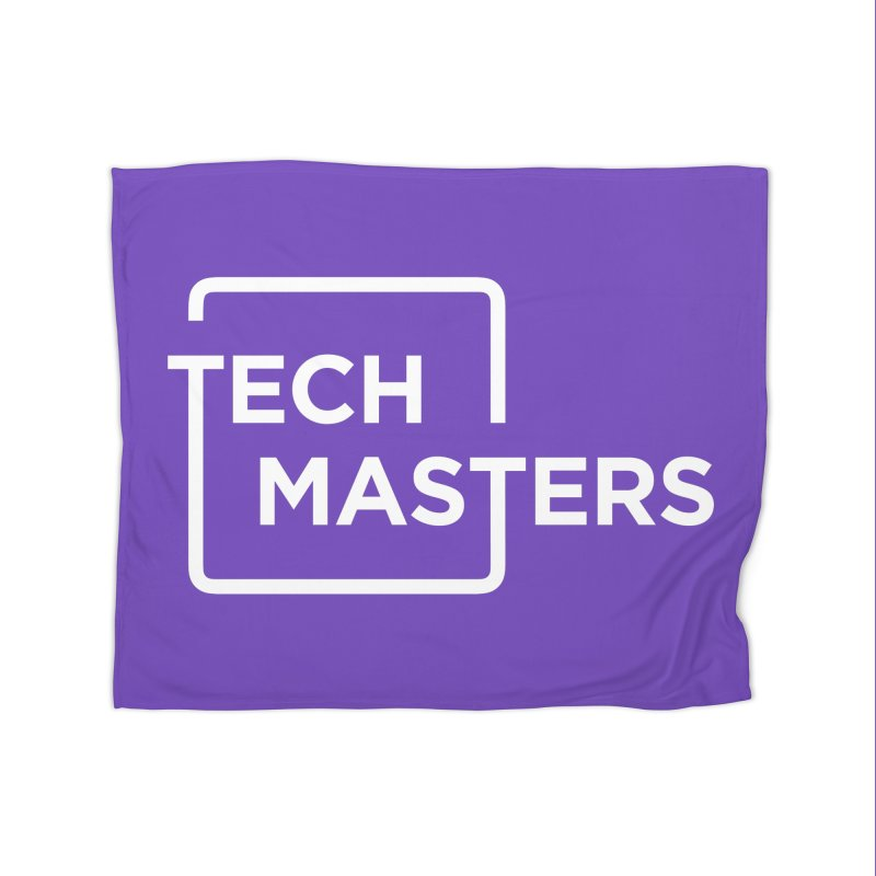 Tech Masters Logo Home Fleece Blanket Blanket by TechMasters Swag Shop