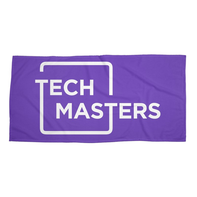 Tech Masters Logo Accessories Beach Towel by TechMasters Swag Shop