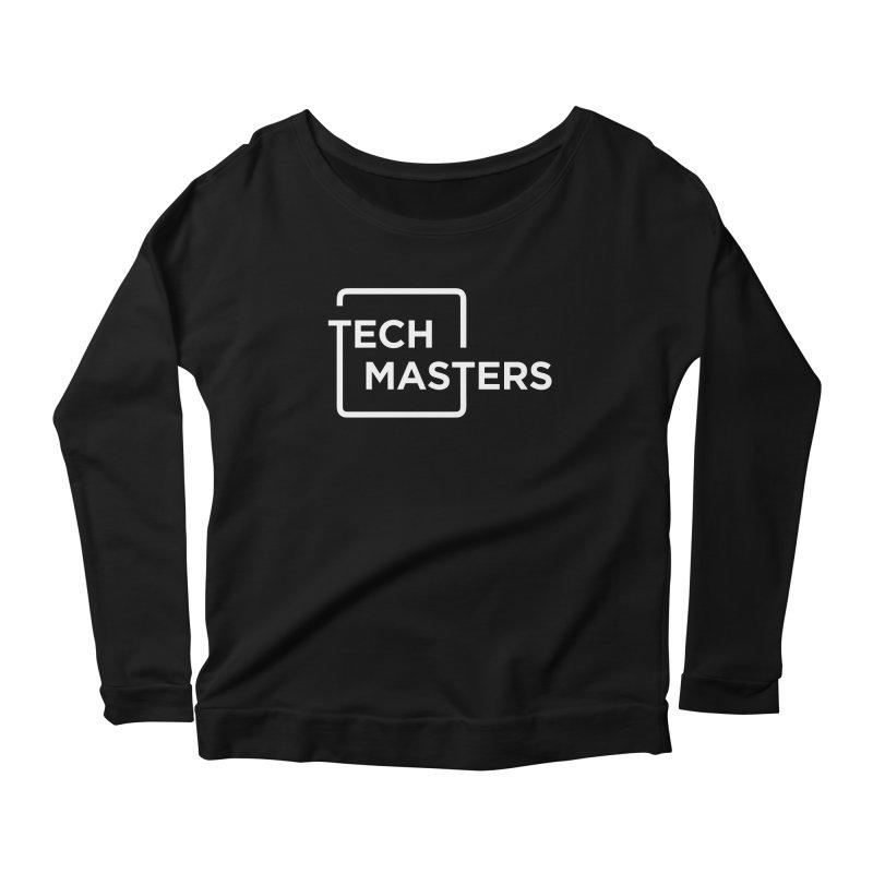 Tech Masters Logo Women's Scoop Neck Longsleeve T-Shirt by TechMasters Swag Shop