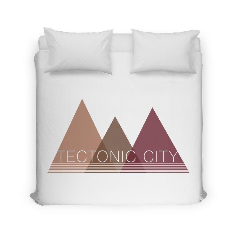 Tectonic City - three peaks Home Duvet by Tectonic City