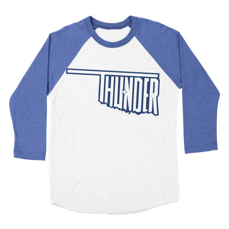 Thunder Men's Baseball Triblend T-Shirt by teebag's Artist Shop