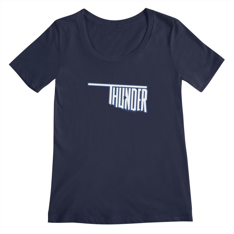 Thunder Women's Scoopneck by teebag's Artist Shop