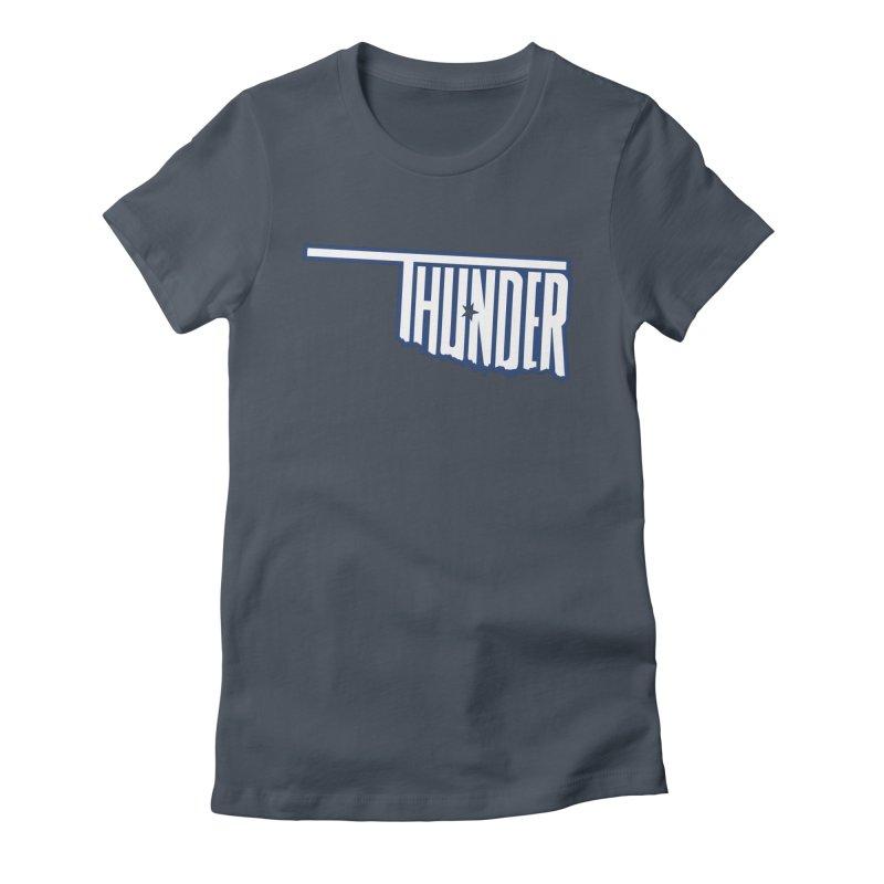 Thunder Women's Fitted T-Shirt by teebag's Artist Shop