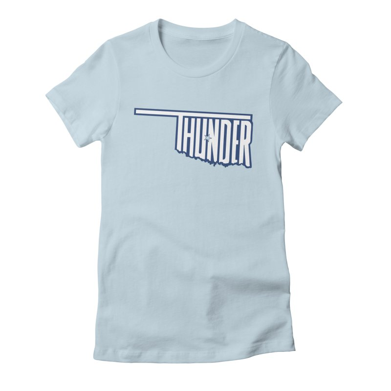 Thunder Women's Fitted T-Shirt by teebag's Artist Shop