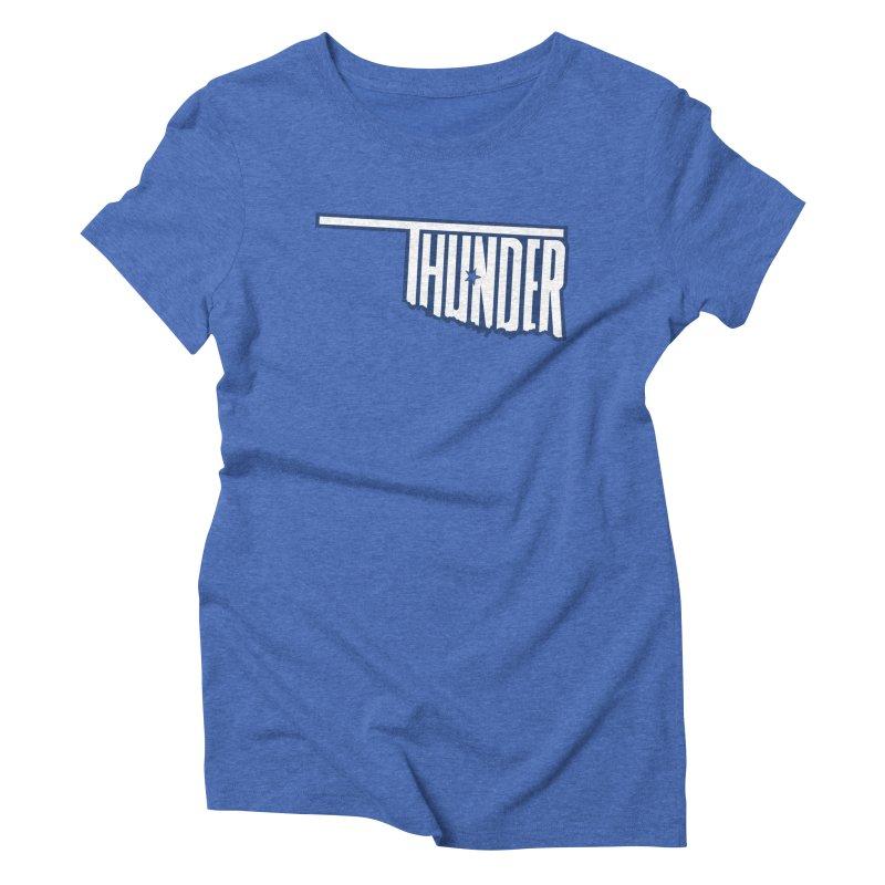Thunder Women's Triblend T-shirt by teebag's Artist Shop