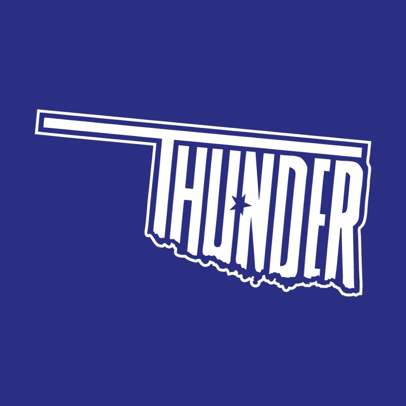 Thunder White Logo None  by teebag's Artist Shop