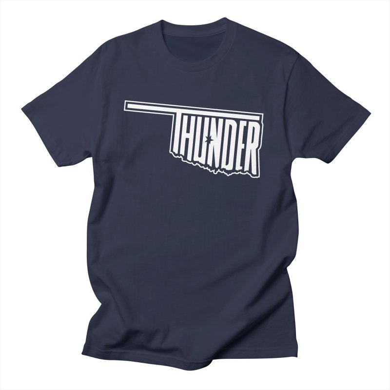 Thunder White Logo Men's T-Shirt by teebag's Artist Shop