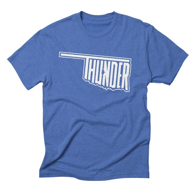 Thunder White Logo Men's Triblend T-shirt by teebag's Artist Shop