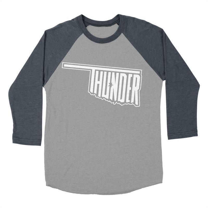 Thunder White Logo Women's Baseball Triblend T-Shirt by teebag's Artist Shop