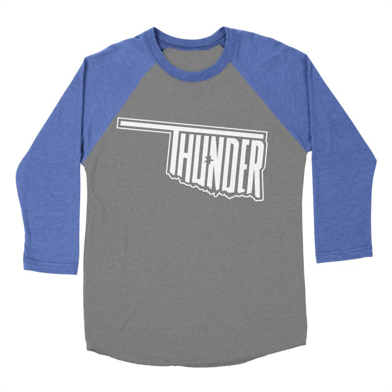 Thunder White Logo Men's Baseball Triblend T-Shirt by teebag's Artist Shop