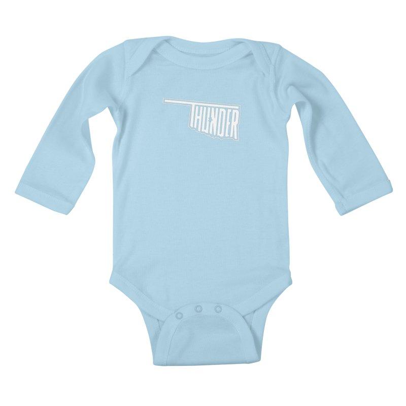 Thunder White Logo Kids Baby Longsleeve Bodysuit by teebag's Artist Shop