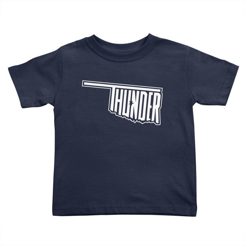 Thunder White Logo Kids Toddler T-Shirt by teebag's Artist Shop