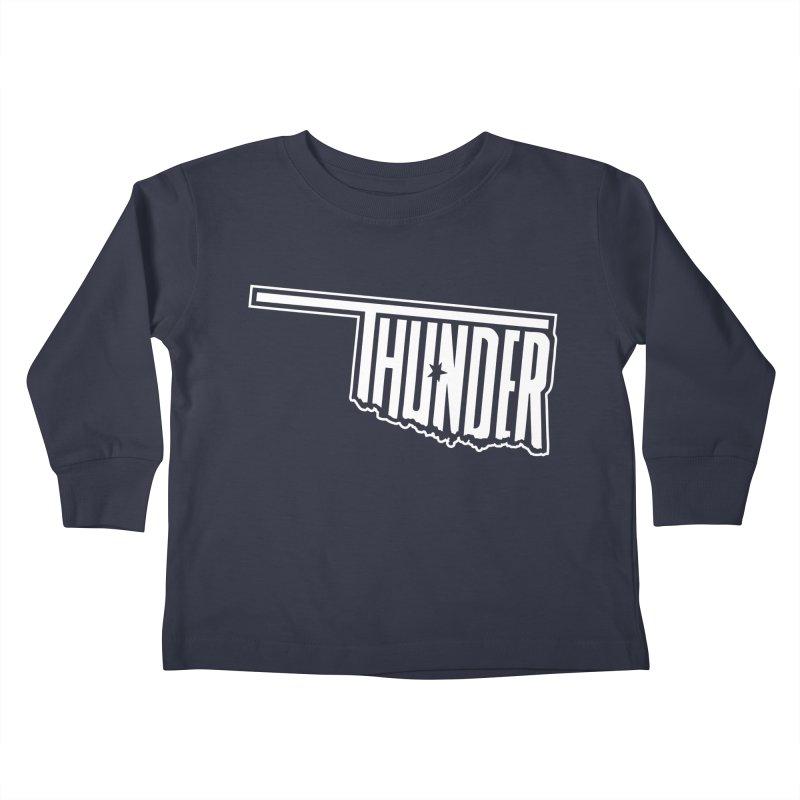 Thunder White Logo Kids Toddler Longsleeve T-Shirt by teebag's Artist Shop