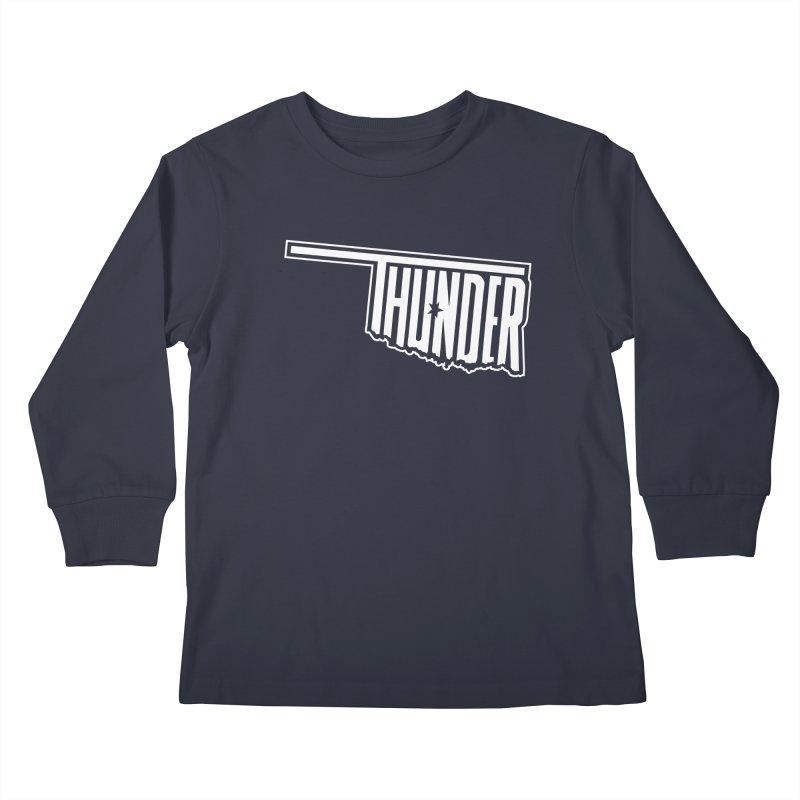 Thunder White Logo Kids Longsleeve T-Shirt by teebag's Artist Shop