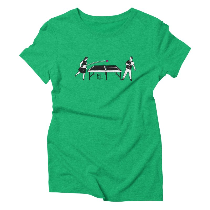 ping pong Women's T-Shirt by TeedeLee