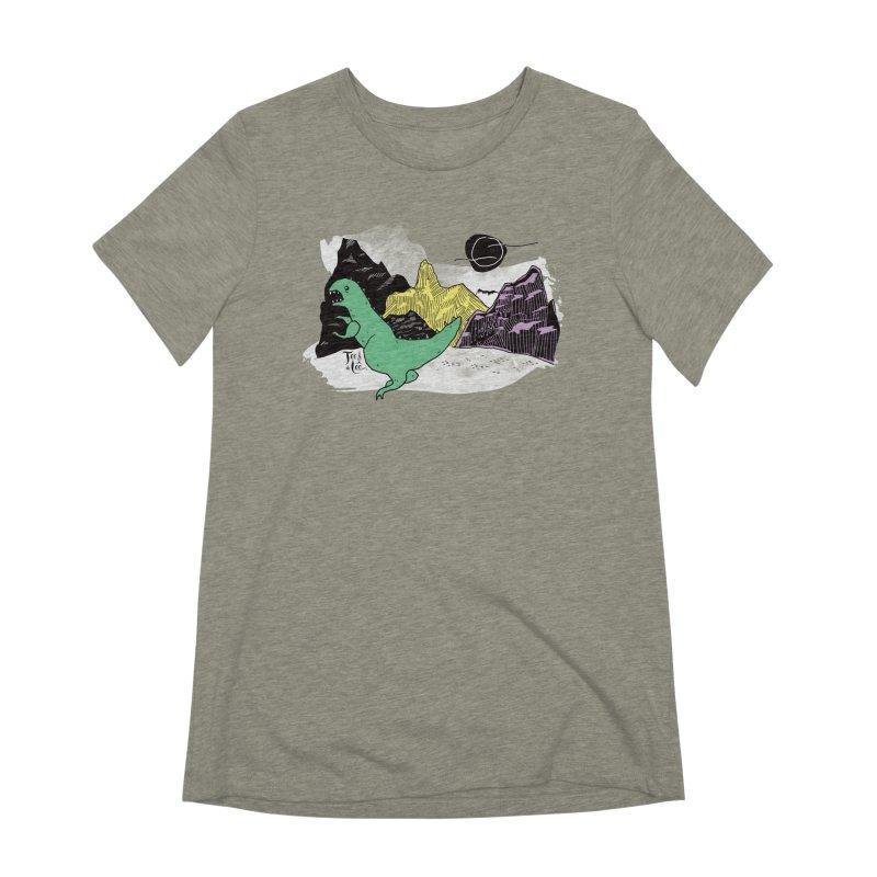 Dinosaur Women's T-Shirt by TeedeLee