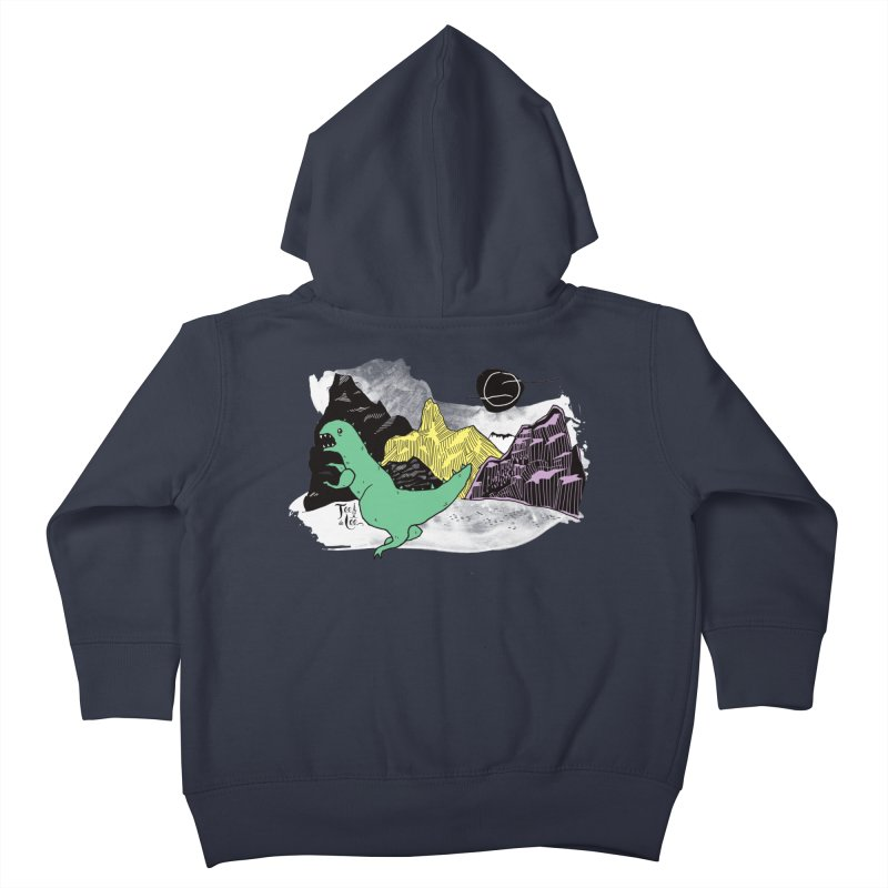 Dinosaur Kids Toddler Zip-Up Hoody by TeedeLee