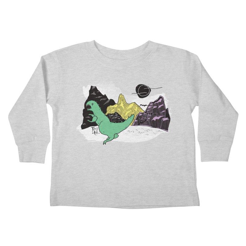 Dinosaur Kids Toddler Longsleeve T-Shirt by TeedeLee