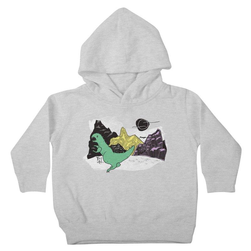 Dinosaur Kids Toddler Pullover Hoody by TeedeLee