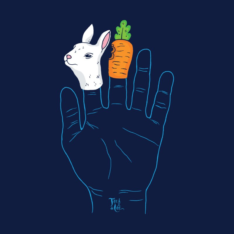 Never give The Finger to a bunny! Men's T-Shirt by TeedeLee