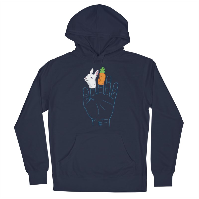 Never give The Finger to a bunny! Men's Pullover Hoody by TeedeLee
