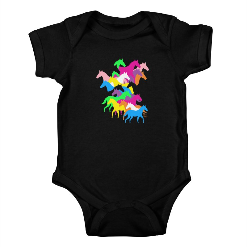 All the wild horses Kids Baby Bodysuit by TeedeLee