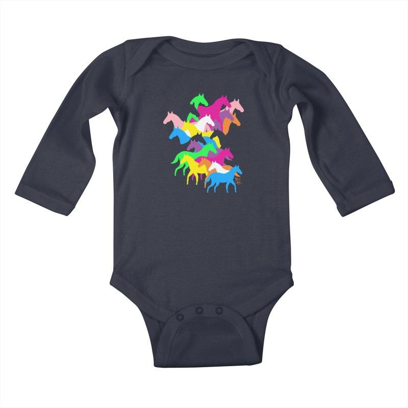 All the wild horses Kids Baby Longsleeve Bodysuit by TeedeLee