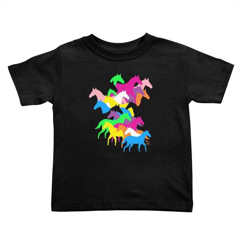 All the wild horses Kids Toddler T-Shirt by TeedeLee