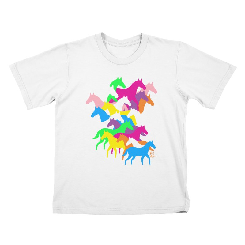 All the wild horses Kids T-Shirt by TeedeLee