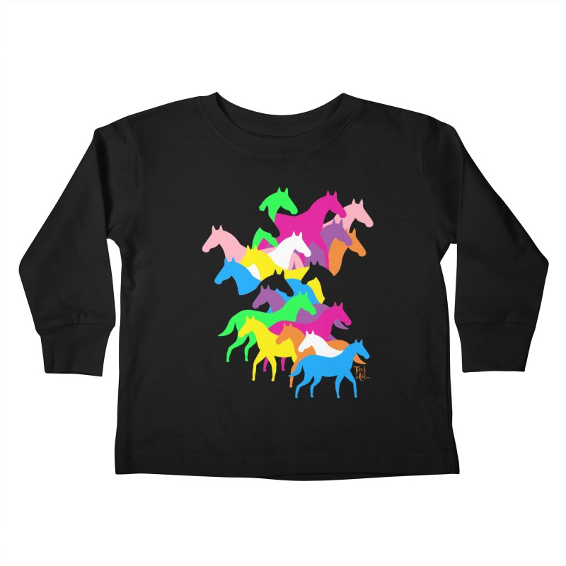 All the wild horses Kids Toddler Longsleeve T-Shirt by TeedeLee