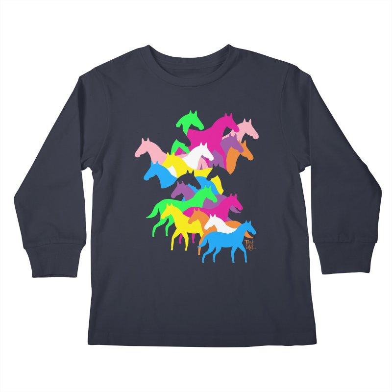 All the wild horses Kids Longsleeve T-Shirt by TeedeLee