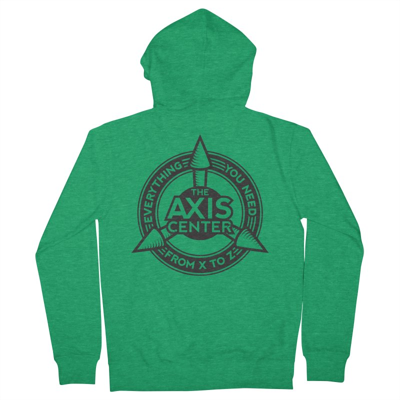 The Axis Center Women's Zip-Up Hoody by Teeframed